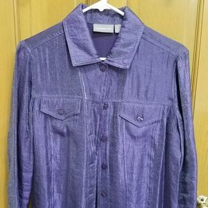 Purple shimmer blouse by Style & Co.